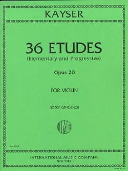 Heinrich Ernst Kayser - 36 estudios - Opus 20 - Partitura - di-arezzo.es