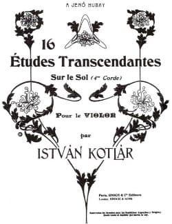 16 Etudes transcendantes Istvan Kotlar Partition laflutedepan