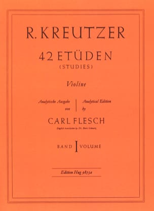 Rodolphe Kreutzer - 42 Studies Volume 1 - Sheet Music - di-arezzo.co.uk