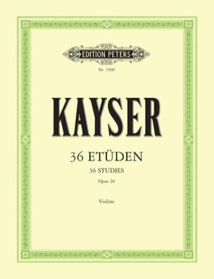 Heinrich Ernst Kayser - 36 Studies Op. 20 - Sheet Music - di-arezzo.co.uk