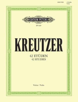 Rodolphe Kreutzer - 42 Studies reviewed by Davisson - Sheet Music - di-arezzo.co.uk