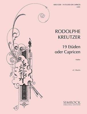 Rodolphe Kreutzer - 19 Studies or Caprices Flesch - Partition - di-arezzo.co.uk