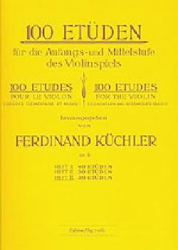 Ferdinand Kuchler - 100 Etüden op. 6 - Band 3 - Noten - di-arezzo.de