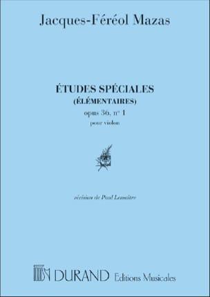 MAZAS - Special Studies op. 36 No. 1 Lemaître - Sheet Music - di-arezzo.co.uk