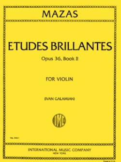 Etudes brillantes op. 36 n° 2 MAZAS Partition Violon - laflutedepan
