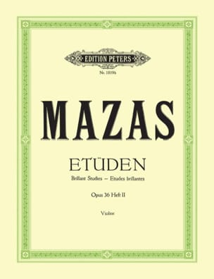 MAZAS - Brilliant studies op. 36 n ° 2 - Sheet Music - di-arezzo.com