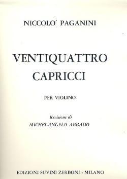 24 Capricci - Niccolò Paganini - Partition - Violon - laflutedepan.com