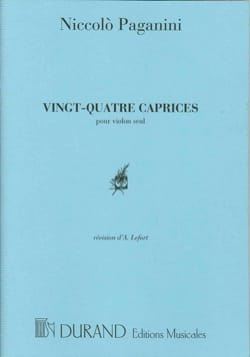 24 Caprices PAGANINI Partition Violon - laflutedepan