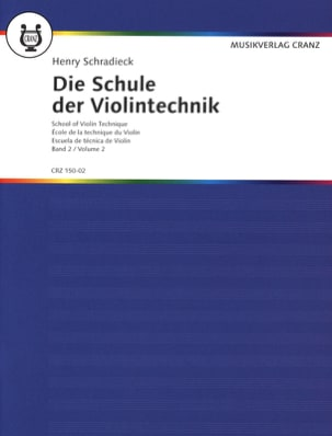 Henry Schradieck - Ecole de la technique, Volume 2 - Violon - Partition - di-arezzo.fr