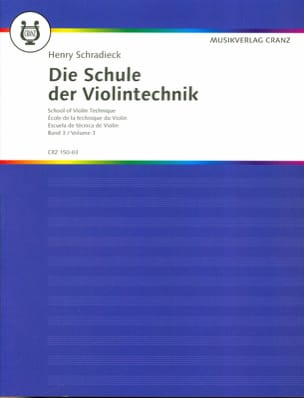 Henry Schradieck - Ecole de la technique, Volume 3 – Violon - Partition - di-arezzo.fr