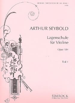 Arthur Seybold - Lagenschule op. 184 - Teil 1 - Sheet Music - di-arezzo.co.uk