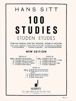 Hans Sitt - 100 Etudes op. 32 - Book 1 - Sheet Music - di-arezzo.co.uk