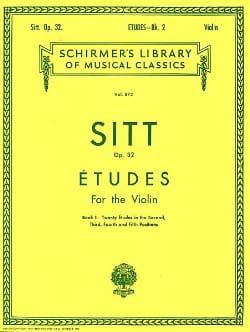Hans Sitt - Etudes op. 32 – Book 2 - Partition - di-arezzo.fr