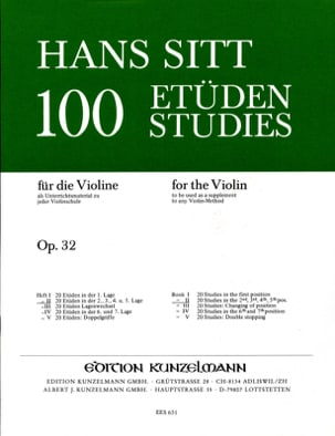Hans Sitt - 100 Etudes op. 32 - Book 2 - Sheet Music - di-arezzo.co.uk