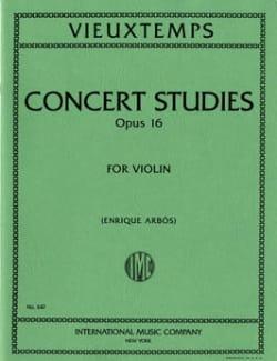 6 Concert Studies op. 16 VIEUXTEMPS Partition Violon - laflutedepan