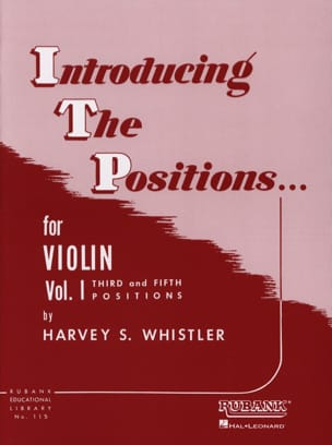 Harvey Whistler - Introducing The Positions Volume 1 - Partition - di-arezzo.fr