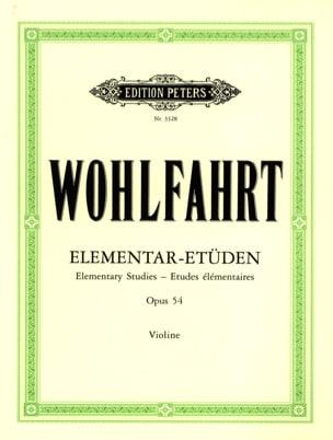 Franz Wohlfahrt - Etudes Elémentaires op. 54 - Partition - di-arezzo.fr