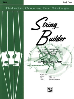 Samuel Applebaum - String Builder Volume 1 - Viola - Partition - di-arezzo.fr