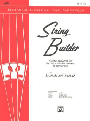 String Builder, Volume 2 - Viola Samuel Applebaum laflutedepan