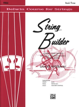 String Builder Volume 3 - Alto Samuel Applebaum Partition laflutedepan