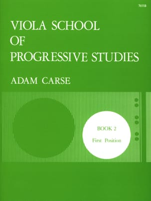 Adam Carse - Viola School of Progressive Studies Volumen 2 - Partitura - di-arezzo.es