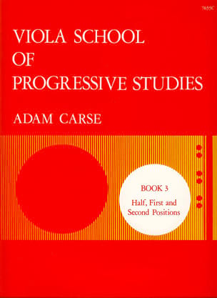 Adam Carse - Viola School Of Progressive Studies Volume 3 - Partition - di-arezzo.fr