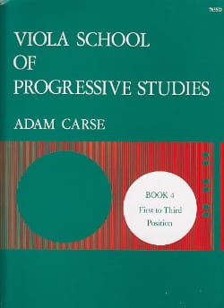 Adam Carse - Viola School of Progressive Studies - Volume 4 - Partitura - di-arezzo.it