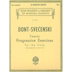 Dont Jacob / Svecenski L. - 20 Progressive exercices - Viola - Partition - di-arezzo.fr