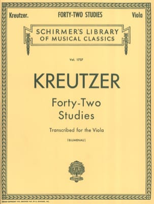 Rodolphe Kreutzer - 42 Studies - Viola Blumenau - Sheet Music - di-arezzo.co.uk