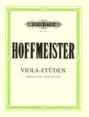Franz Anton Hoffmeister - Viola-Etüden - Sheet Music - di-arezzo.co.uk