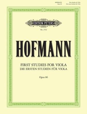 Les premières études pour alto op. 86 Richard Hofmann laflutedepan