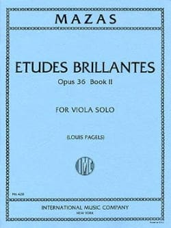 Jacques Féréol Mazas - Brilliant Studies op. 36 - Book 2 - Viola Pagels - Sheet Music - di-arezzo.com