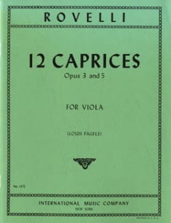 Pietro Rovelli - 12 Caprices op. 3 and 5 - Viola Pagels - Sheet Music - di-arezzo.co.uk