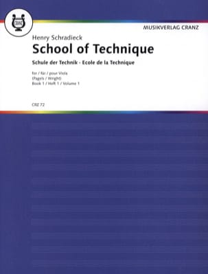 Henry Schradieck - School of Technique Volume 1 - Alto - Partitura - di-arezzo.it