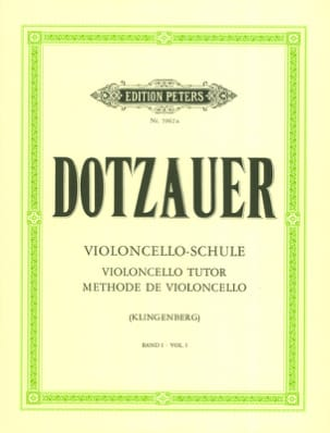 Friedrich Dotzauer - Cello Method - Volume 1 - Sheet Music - di-arezzo.com