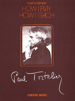 How I play, How I teach Paul Tortelier Partition laflutedepan