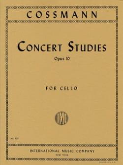 Concert Studies op.10 Bernhard Cossmann Partition laflutedepan
