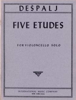 Valter Despalj - 5 Etudes for solo cello - Sheet Music - di-arezzo.co.uk