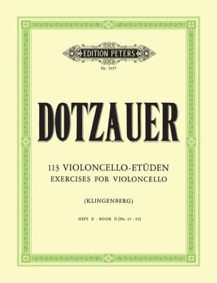 Friedrich Dotzauer - 113 Violoncello Etüden - Heft 2 35-62 - Sheet Music - di-arezzo.co.uk