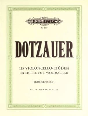 Friedrich Dotzauer - 113 Violoncello Etüden - Heft 4 86-113 - Sheet Music - di-arezzo.co.uk