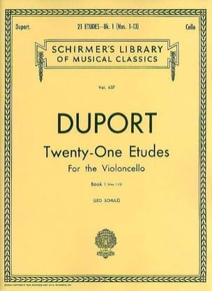 Jean Louis Duport - 21 Studies - Volume 1 1-13 - Cello - Sheet Music - di-arezzo.co.uk