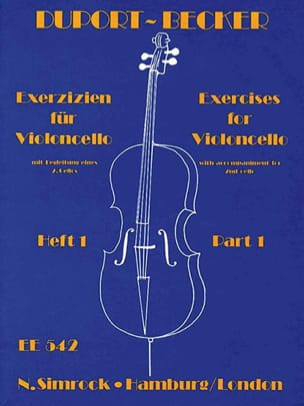 Duport Jean Louis / Becker Hugo - Exercises for violoncello – Volume 1 (1 à 13) - Partition - di-arezzo.fr