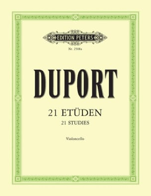 Jean Louis Duport - 21 Etudes - Cello - Sheet Music - di-arezzo.co.uk