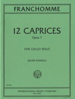 Auguste Franchomme - 12 Caprices op. 7 - Sheet Music - di-arezzo.co.uk
