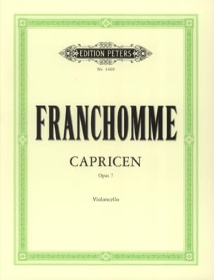 Auguste Franchomme - 12 Caprices Opus 7 - Partition - di-arezzo.co.uk