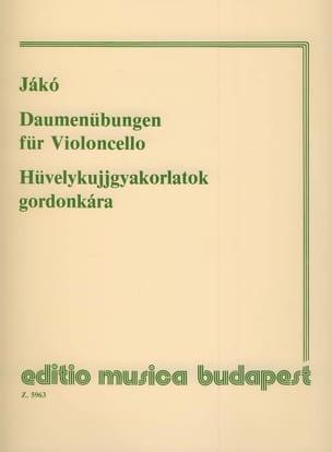 Jenö Jako - Daumenübungen en Violoncello - Partitura - di-arezzo.es
