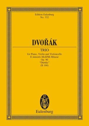 Klavier-Trio E-Moll Dumky - Conducteur DVORAK Partition laflutedepan