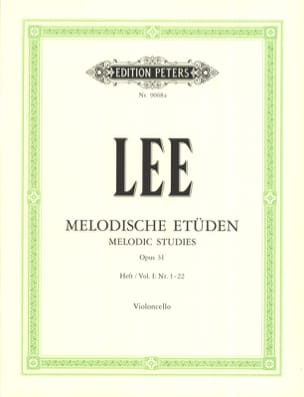 Sebastian Lee - Melodische Etüden op. 31 - Heft 1 1-22 - Sheet Music - di-arezzo.co.uk