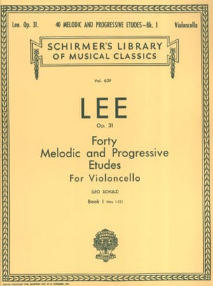 Sebastian Lee - 40 Melodic and progressive studies op. 31 - Volume 1 - Sheet Music - di-arezzo.co.uk