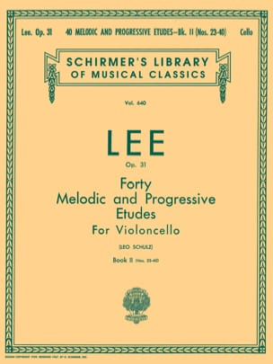 Sebastian Lee - 40 Melodic and progressive studies op. 31 - Volume 2 - Sheet Music - di-arezzo.co.uk